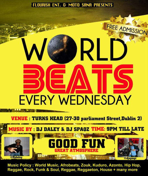 WORLD BEATS// EVERY WEDNESDAY // TURKS HEAD (MAIN BAR)